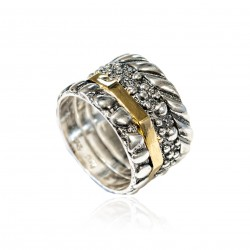 Siver Ring Vintage gold plated/oxide