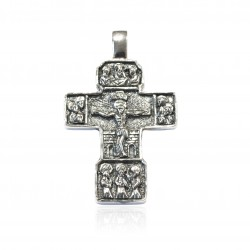 Silver Pendant Vintage cross oxide