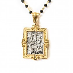 Pendente Vintage Argento Placcato in oro/ossido