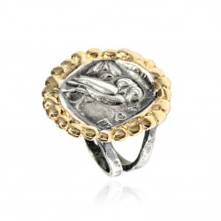 Ring Vintage Silber Greek Münzen Eule