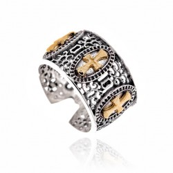 Anillo Plata Vintage 3 Cruces