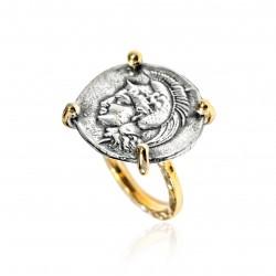 Anello Donna Vintage moneta greca dea Atena