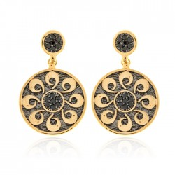 Silver Earrings Vintage gold plated ruthenium
