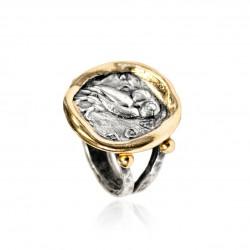 Anello Donna Vintage moneta greca gufo