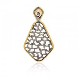Silver Pendant Vintage gold plated ruthenium