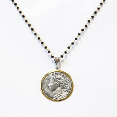 Colgante Plata Moneda Griega Bicolor Aretusa