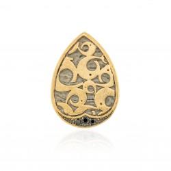 Pendenti Vintage Argento Placcato in oro rutenio