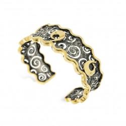 Bracelet Vintage bicolore ruthénium noir