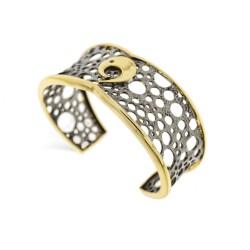 Silver Bracelet Vintage gold plated ruthenium