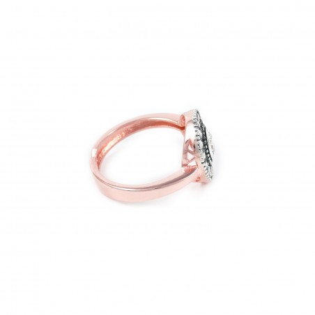 Silver Ring Vintage rose gold plated ruthenium