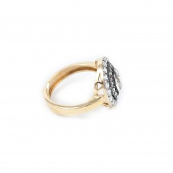 Silver Ring Vintage gold plated ruthenium